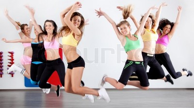 2345165-group-of-ladies-working-out-in-aerobic-class